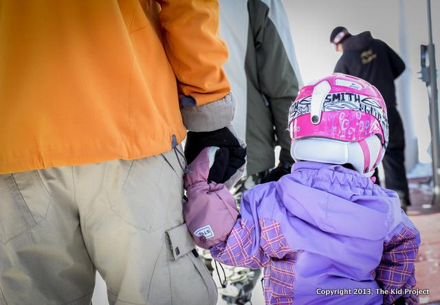 Family time on the ski slopes