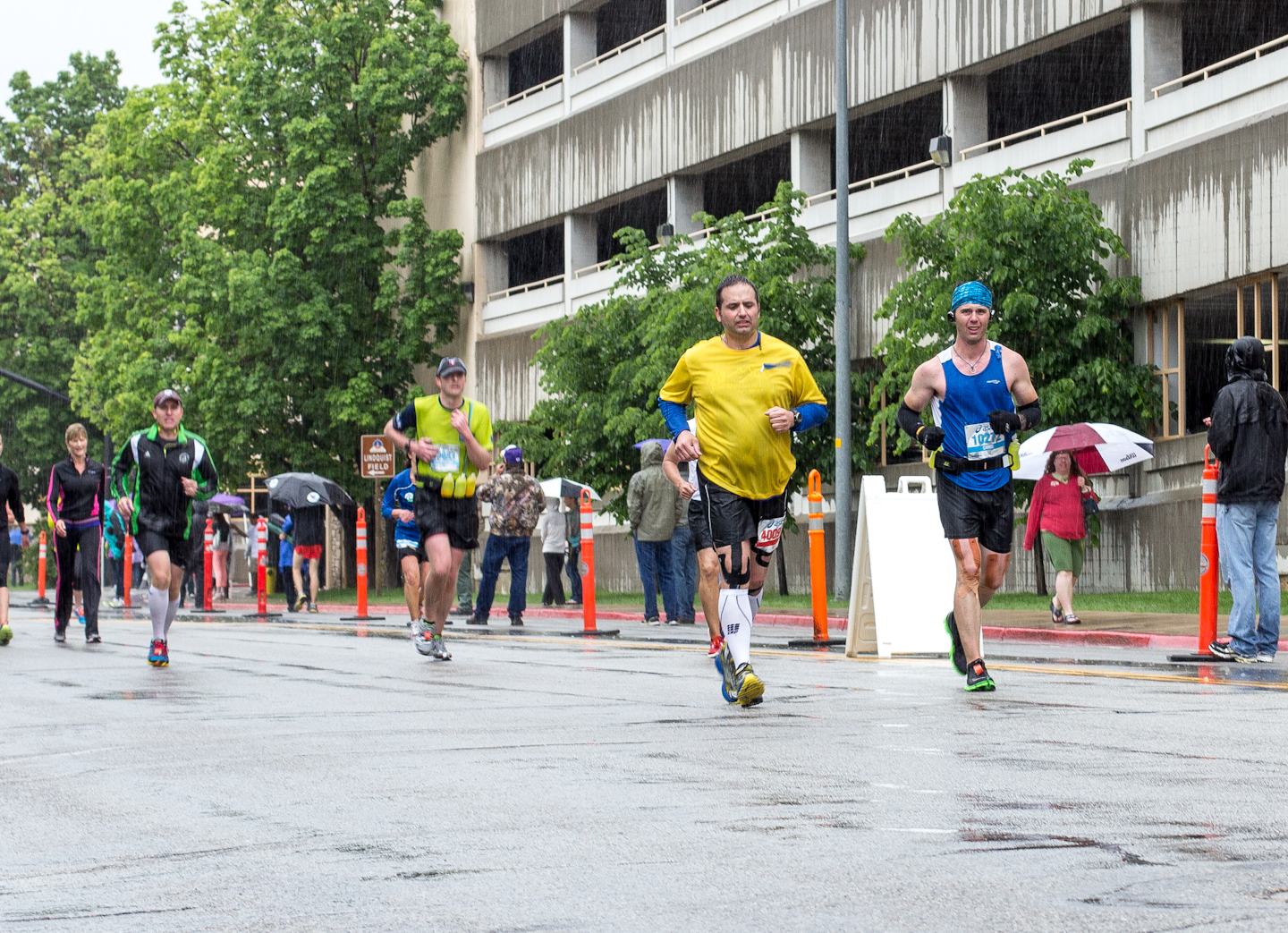 rainy Ogden Marathon, run
