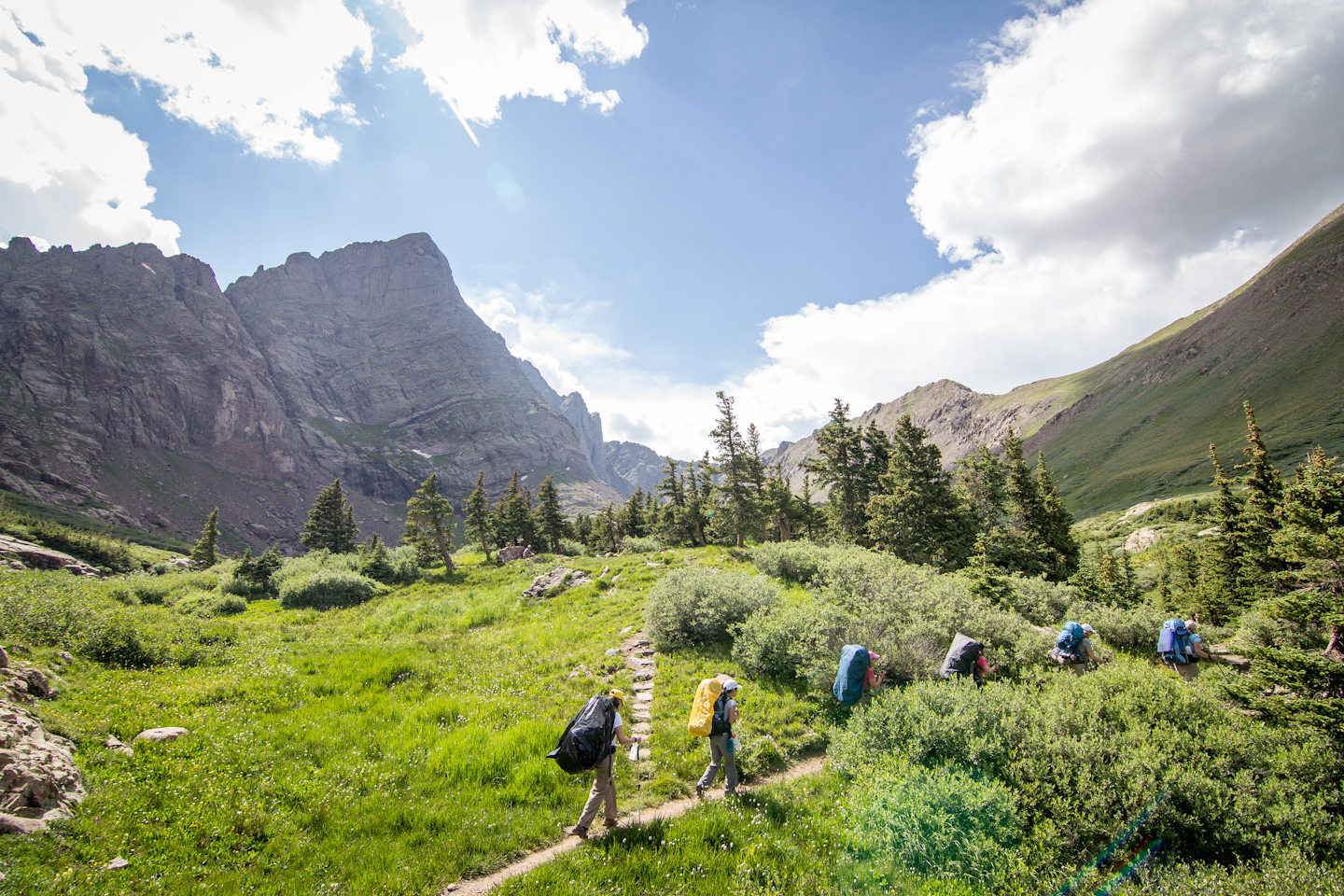 Backpacking into South Colony Lakes, CO