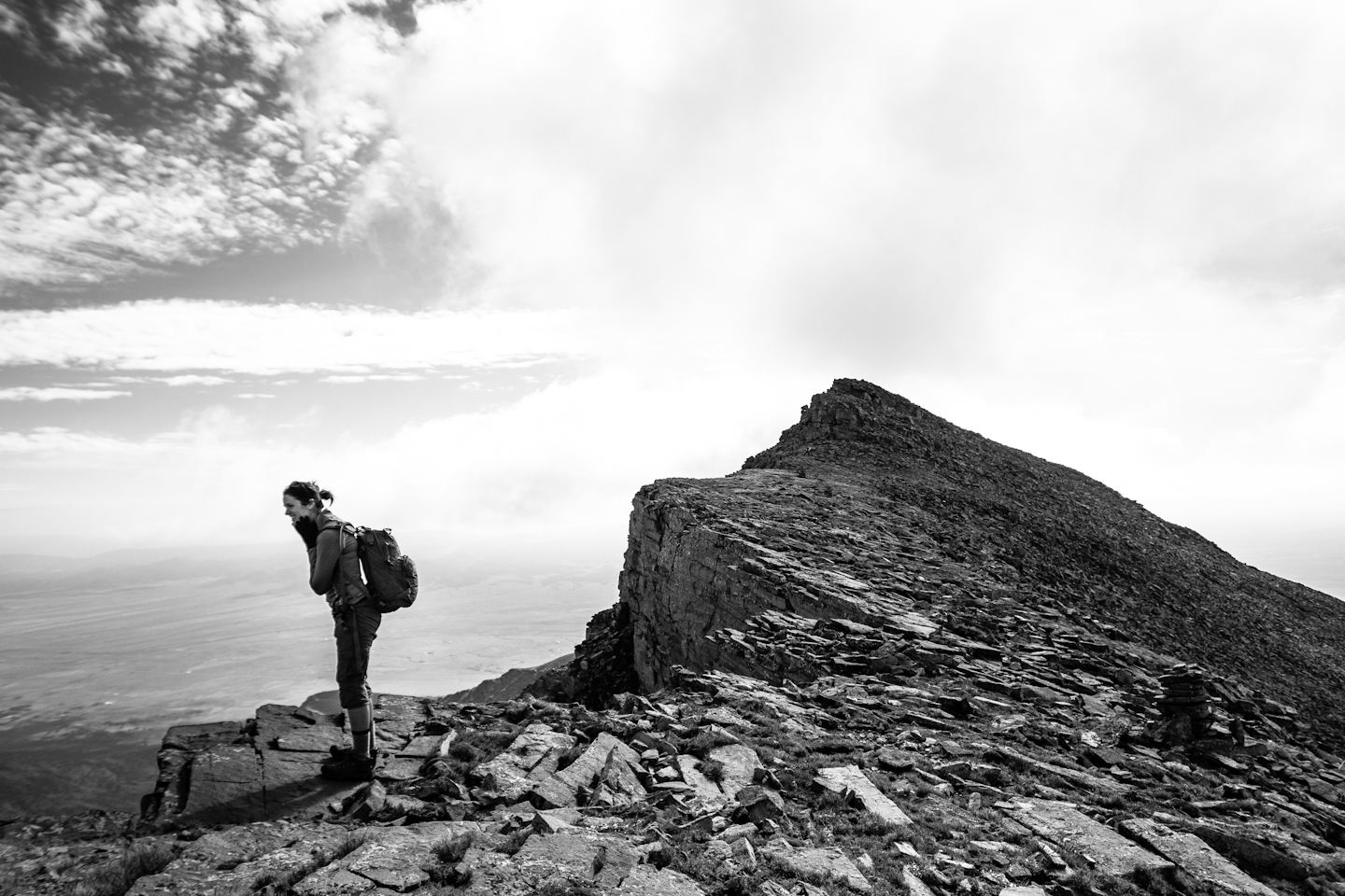 Nearing the summit of Mount Humboldt, CO