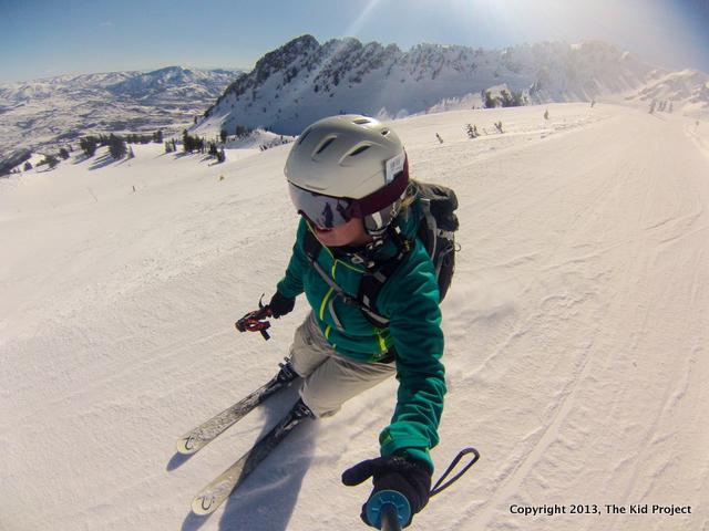 Skiing at top of the world, snowbasin