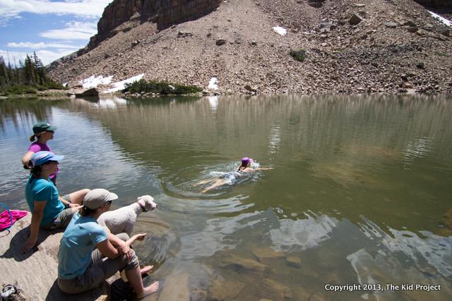 swimming in alpine lakes, utah