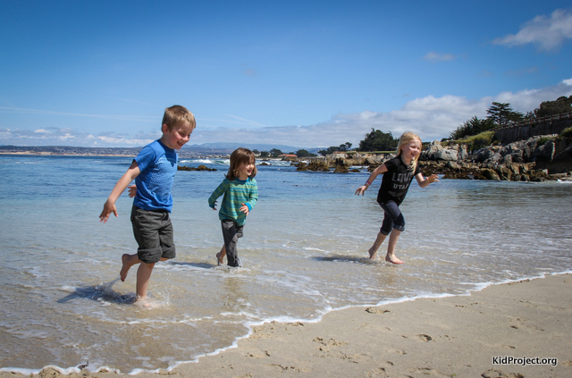Playing in ocean near Monterey, CA