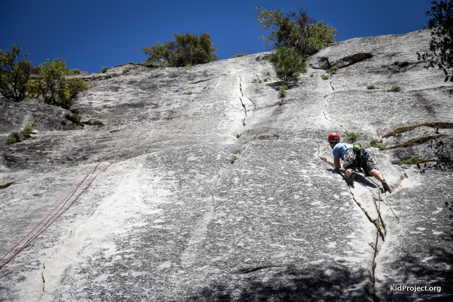 "Leading first pitch of ""Jamcrack"", Yosemite"