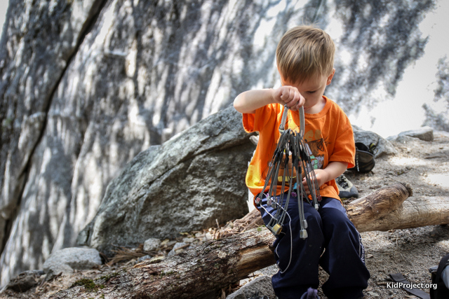 Boy at Climbing crag