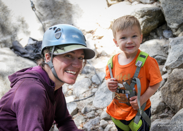 Gearing up to climb with kids