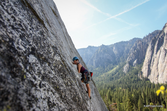 "Leading ""Pine Line"", Base of El Capitan, Yosemite"