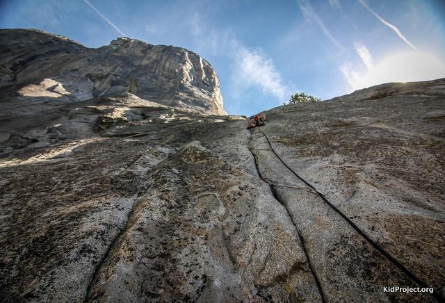 Looking up at El Cap