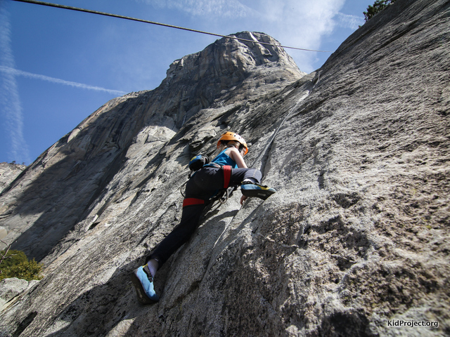 Yosemite climbing good for kids