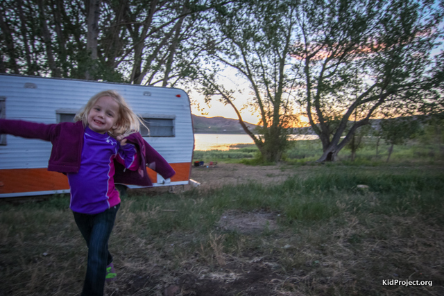Camping at Echo Lake reservoir for families