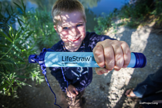 Lifestrawt personal water filter for wilderness