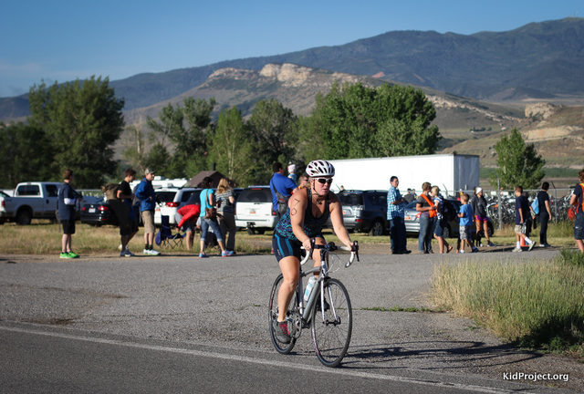 Biking at Echo Tri, triutah
