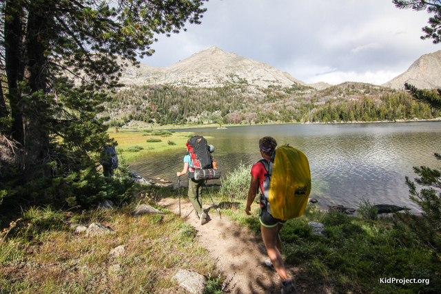Backpacking at Big Sandy Lake, WY