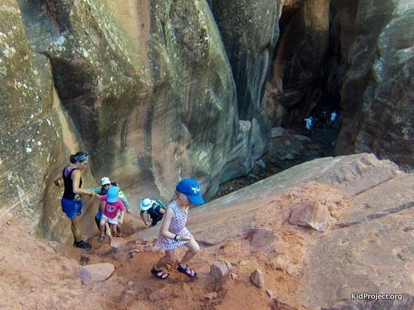 Kanarra Creek Canyon with kids