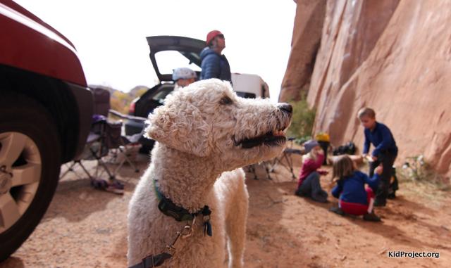 Kai at climbing moab