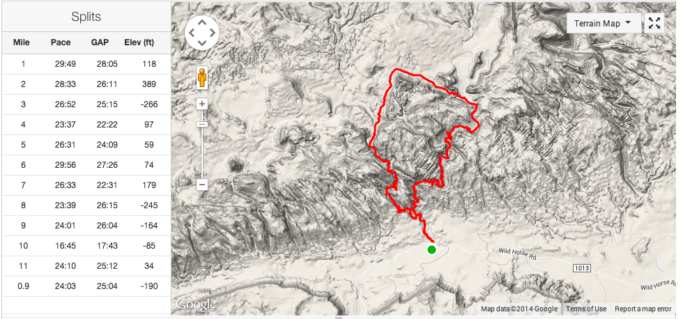 Map of Little Wild horse /  Bell Canyon, Utah