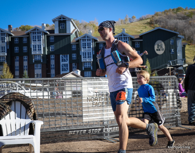 We ran Chris through the finish of his first 50 mile trail race.
