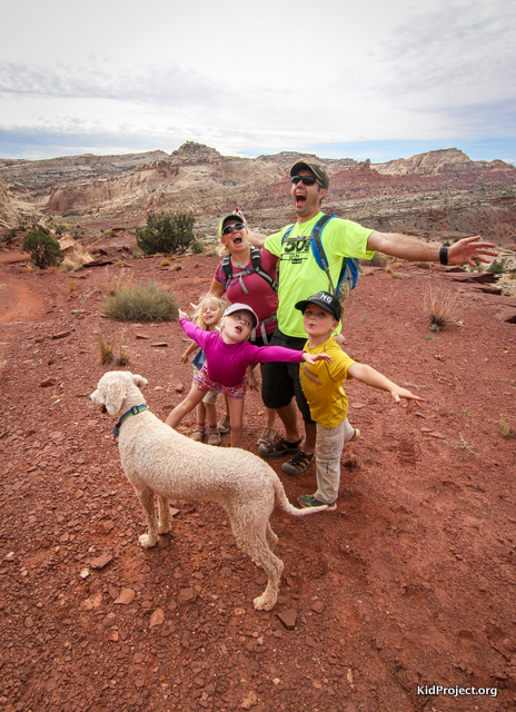Family photo in Bell Canyon, Ut