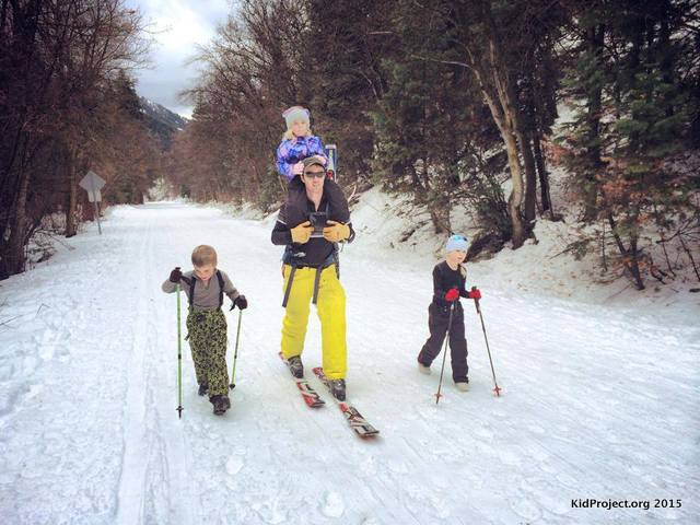 Cross country, touring, or snowshoeing in Millcreek Canyon