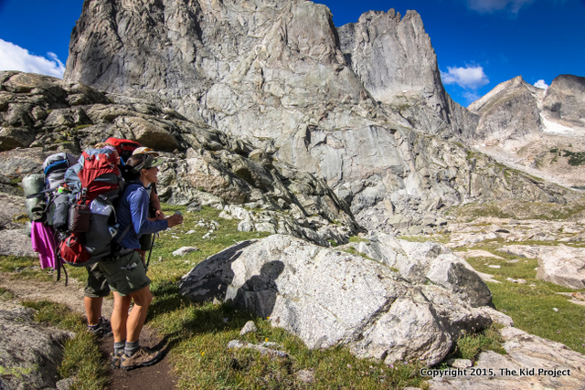 I like training for girls backpacking trips! Photo: Cirque of the Towers, WY 2014