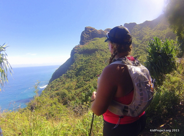 Overlooking Kauai's northern coast.