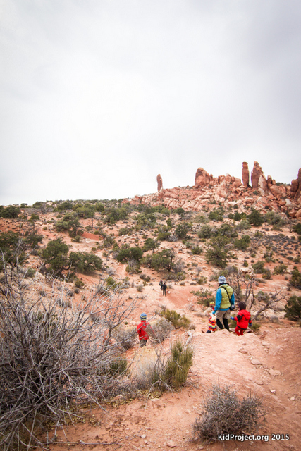 Hiking to Black Angel, Arches National Park
