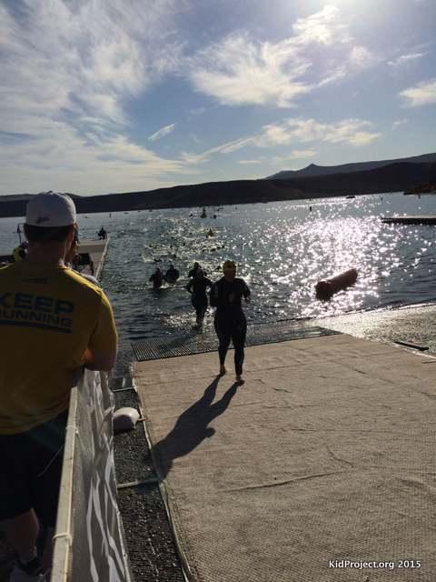 Swim exit, St. George Ironman 70.3