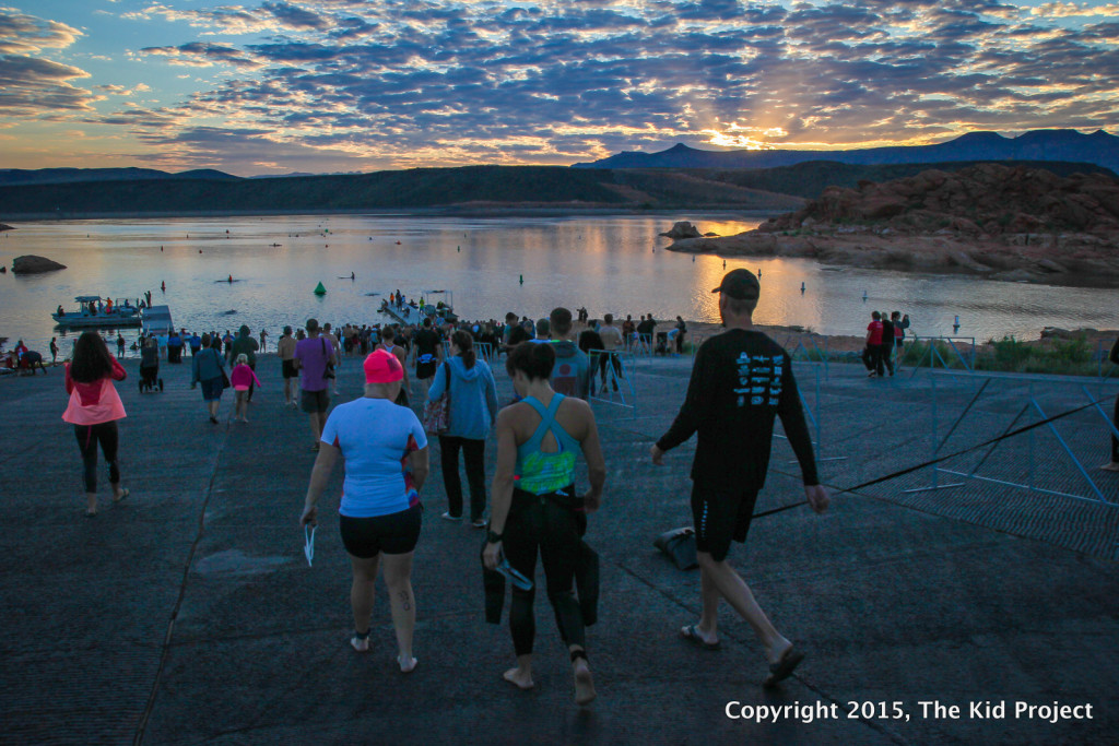 Sunrises and triathlons at Sand Hollow reservoir, Utah