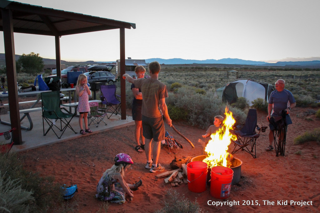 Camping at Sand Hollow Res, Utah