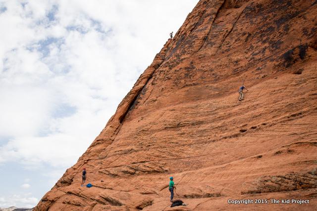 Climbing Circus Wall, Snow Canyon State Park, UT