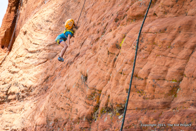 kid rock climbing, snow canyon