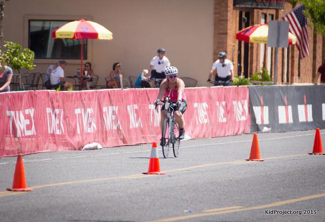 Biking into dismount.