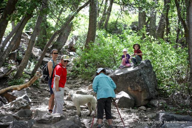trail in Waterfall Canyon Utah