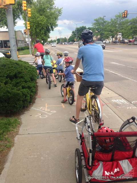 biking with kids, dads