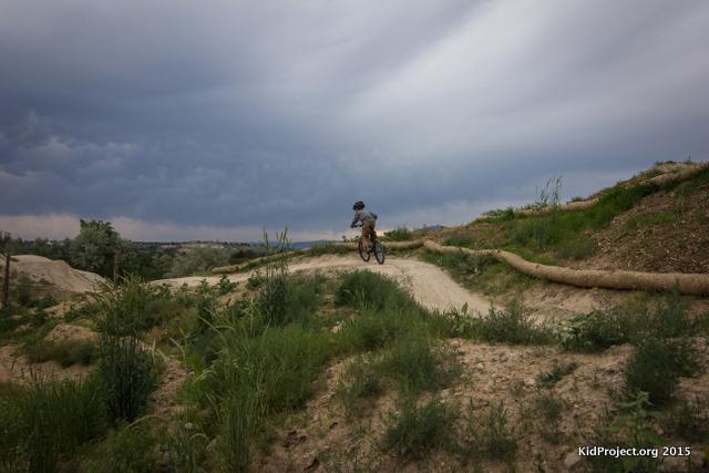 Biking with kids in corner canyon