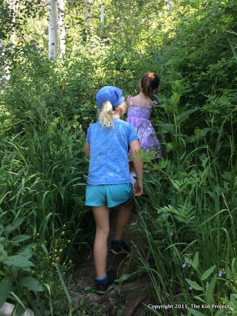 Bushwacking on Mount Raymond with kids