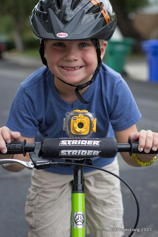 VTech Action Camera for kids, on bike mount