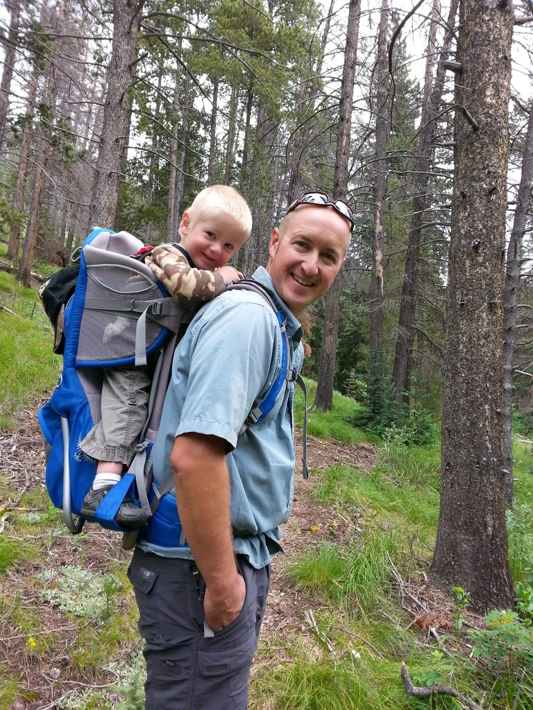 From Mellisa: Father and son loving the great outdoors.