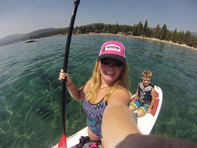 family SUP on Lake Tahoe