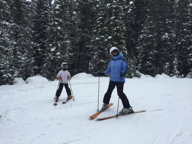 Skiing Brighton, family