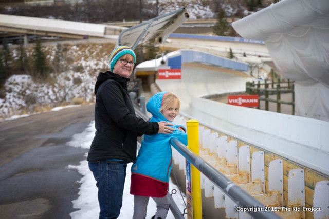 family time watching Luge