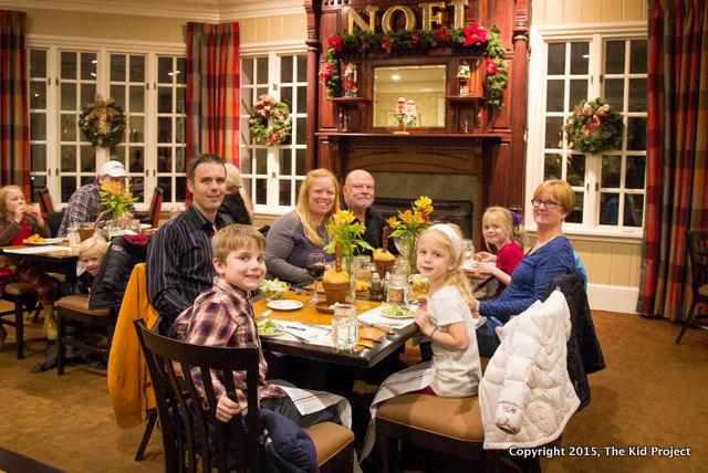 Family dinner at Simon's restaurant