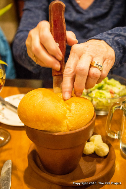 Pots of Bread at Simon's Restaurant are to die for!