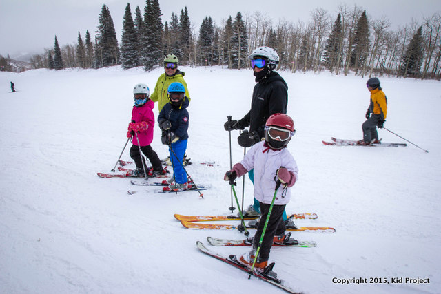 Multi-generational skiing at Park City