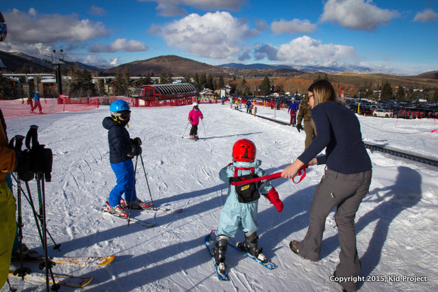 Take your little ones to Park City for easy to access magic carpets and beginner terrain.