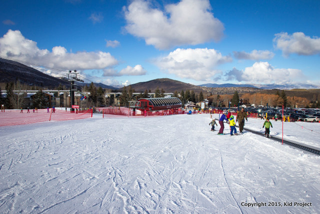 You can see the parking, right off the beginner area and the First Timer lift. This is our preferred place to park.