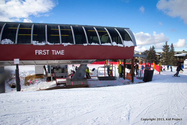 Once the new skier/boarder is comfortable balancing, stoping and turning, they can adventure onto the First Timer Lift, which accesses multiple runs that will entertain the young ones.