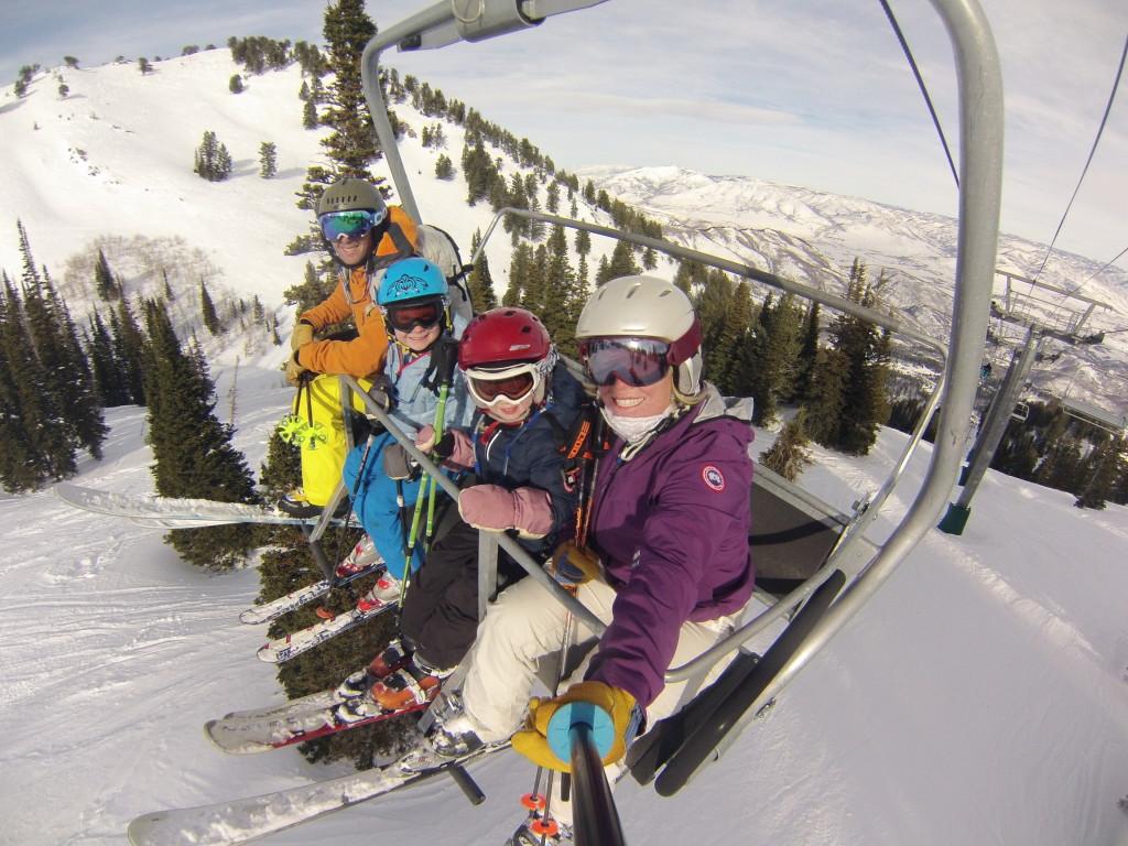 Skiing, family, ski with kids,