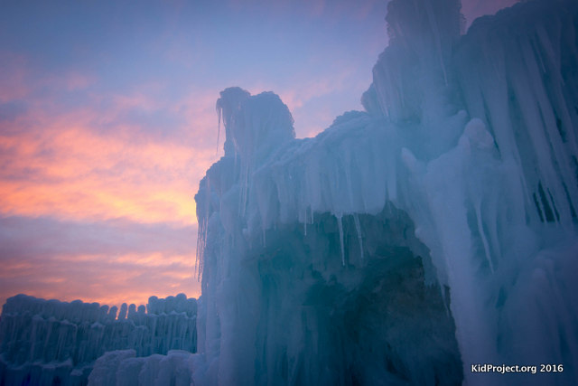 Ice Castles in winter