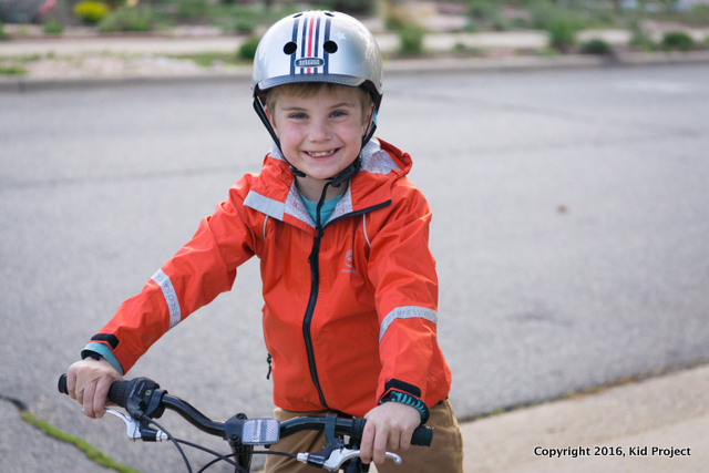 Showers Pass rain jacket for kids